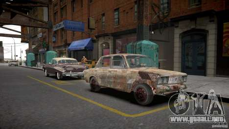 Rusty 2106 VAZ para GTA 4 visión correcta