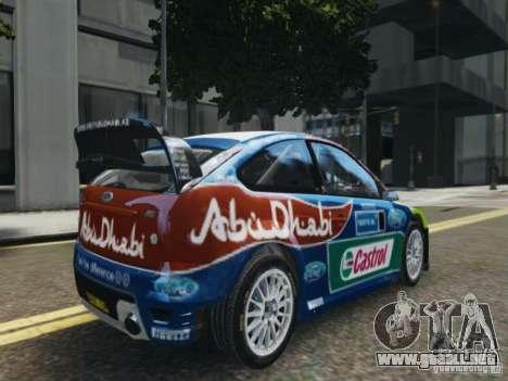 Ford Focus RS WRC para GTA 4 left
