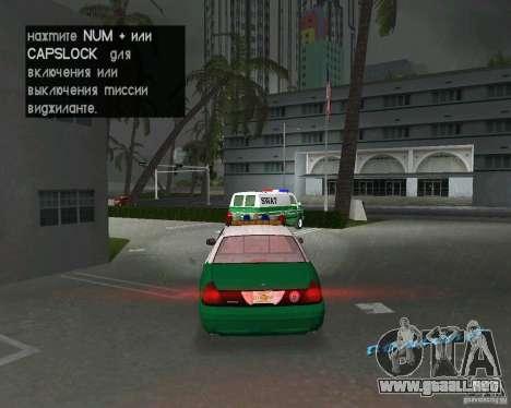 Ford Crown Victoria 2003 Police para GTA Vice City visión correcta