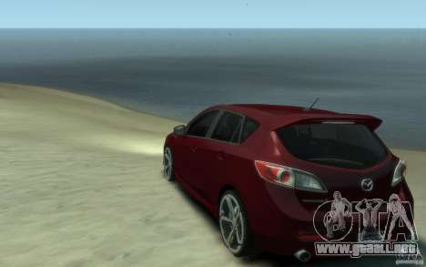 Mazda 3 MPS 2010 para GTA 4 Vista posterior izquierda