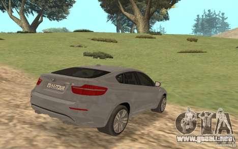 BMW X6M para la visión correcta GTA San Andreas