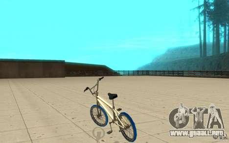 Zeros BMX BLUE tires para GTA San Andreas vista posterior izquierda