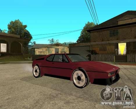 BMW M1 para la visión correcta GTA San Andreas