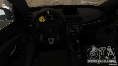 Renault Megane RS 250 para GTA 4 vista superior