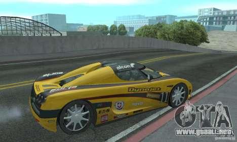 Koenigsegg CCX (v1.0.0) para la visión correcta GTA San Andreas