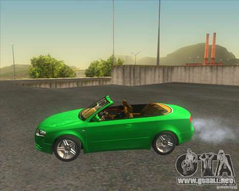 Audi A4 Convertible 2005 para GTA San Andreas left