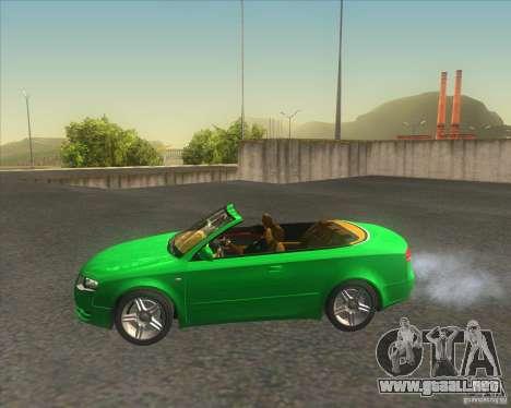 Audi A4 Convertible 2005 para GTA San Andreas left