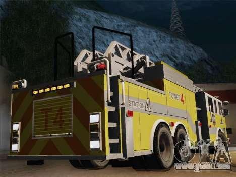 Pierce Arrow XT BCFD Tower Ladder 4 para la visión correcta GTA San Andreas