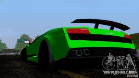 Lamborghini Gallardo LP570-4 Superleggera para visión interna GTA San Andreas