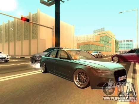 Audi A6 Stanced para GTA San Andreas left