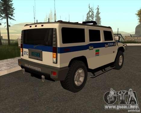 Hummer H2 DPS para la visión correcta GTA San Andreas
