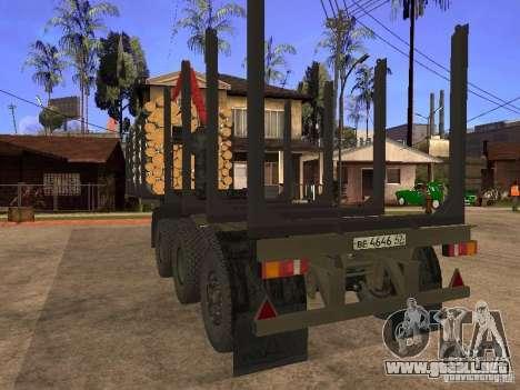 Remolque MAZ 99864 para visión interna GTA San Andreas