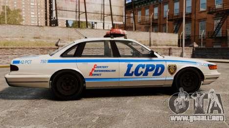 Un nuevo coche patrulla para GTA 4 left