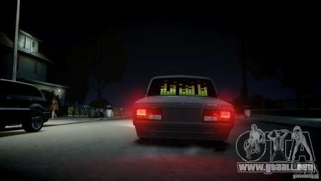 VAZ 2107 para GTA 4 Vista posterior izquierda