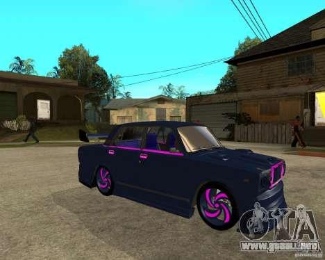 Vaz 2105 carrera callejera Tuning para la visión correcta GTA San Andreas