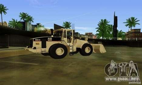 Excavadora CAT para GTA San Andreas left
