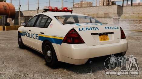 Policía Pinnacle ESPA para GTA 4 Vista posterior izquierda