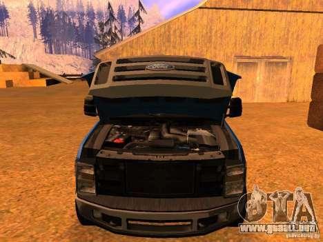 Ford F350 para la visión correcta GTA San Andreas