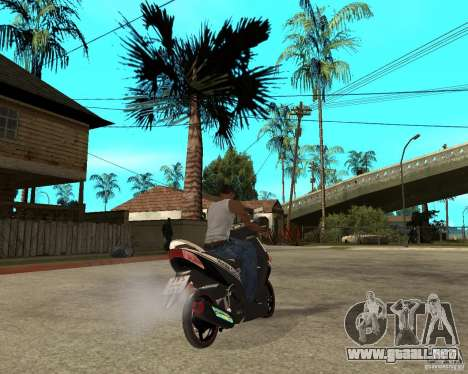 Honda Click para GTA San Andreas vista posterior izquierda