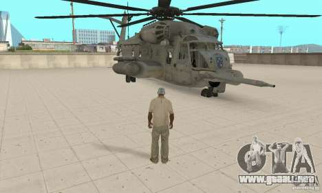 Sikorsky MH-53 para GTA San Andreas vista hacia atrás