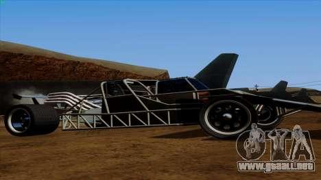 Tirón auto de Furious 6 para GTA San Andreas vista posterior izquierda