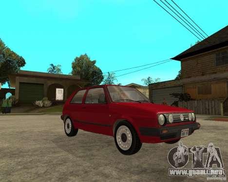 Volkswagen Golf Mk.II para la visión correcta GTA San Andreas