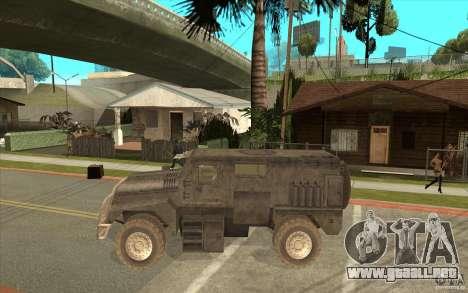 Military Truck para GTA San Andreas left