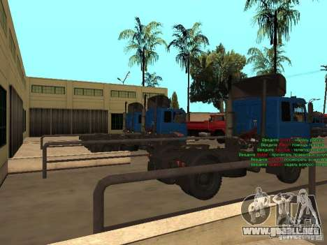 MAZ 5432 YAMZ-238b 4 x 2 para GTA San Andreas vista posterior izquierda