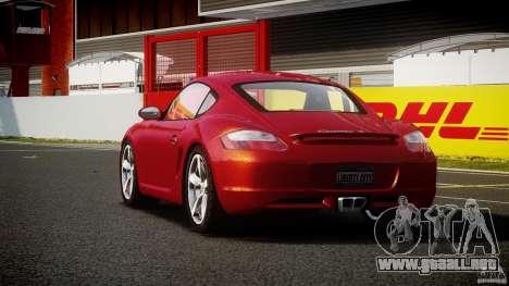 Porsche Cayman S v2 para GTA 4 Vista posterior izquierda