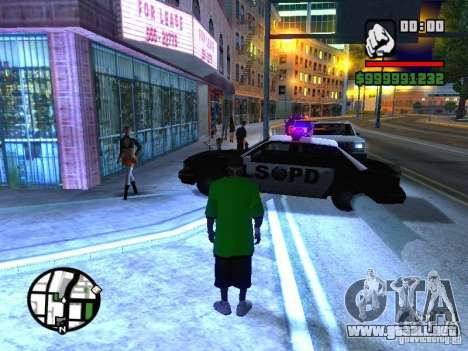 50 cent Skin para GTA San Andreas segunda pantalla