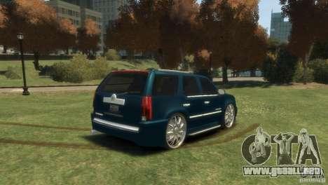 Cadillac Escalade Dub para GTA 4 left