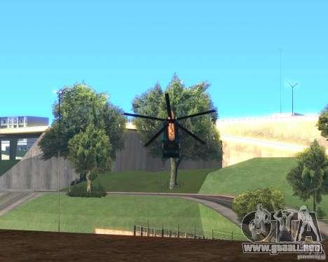 Cops Hoddogeres para GTA San Andreas vista posterior izquierda