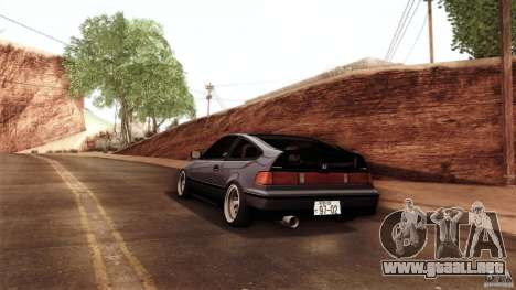 Honda CRX JDM para GTA San Andreas vista hacia atrás