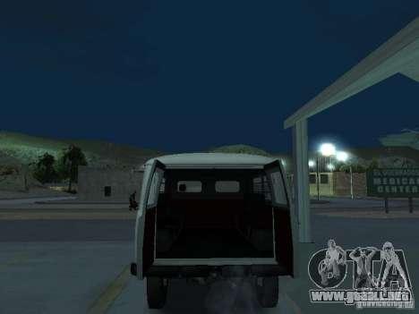 UAZ 451A para GTA San Andreas vista hacia atrás