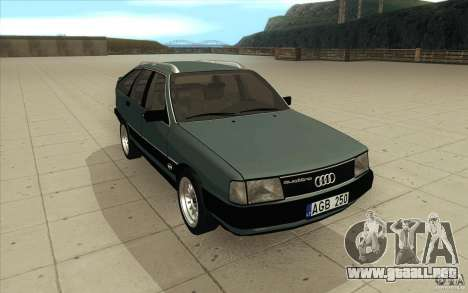Audi 100 Avant Quattro para GTA San Andreas vista hacia atrás