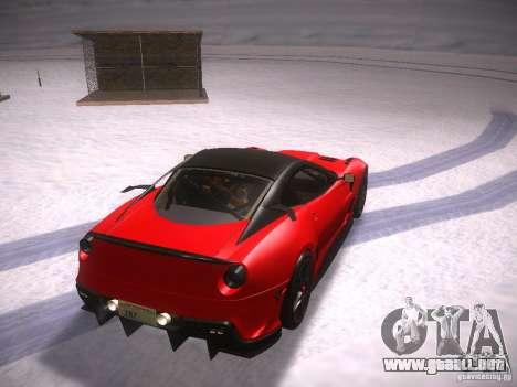 Ferrari 599XX para GTA San Andreas vista posterior izquierda