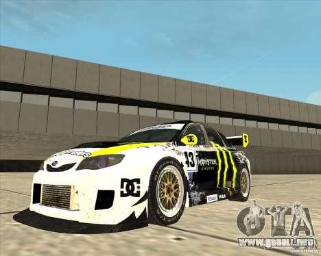 Subaru Impreza para la visión correcta GTA San Andreas