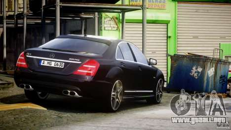 Mercedes-Benz S63 AMG [Final] para GTA 4 vista lateral