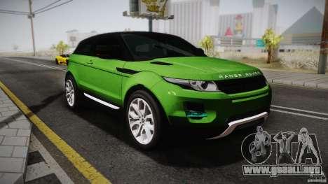 Land Rover Range Rover Evoque v1.0 2012 para GTA San Andreas