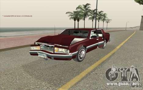 Chrysler Dynasty para visión interna GTA San Andreas