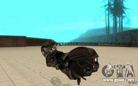 Bike predator para GTA San Andreas vista posterior izquierda