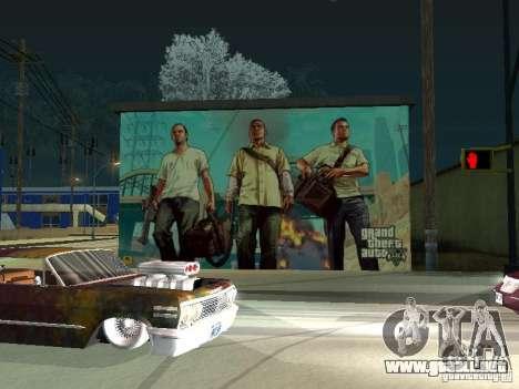 Cartel de GTA V para GTA San Andreas segunda pantalla