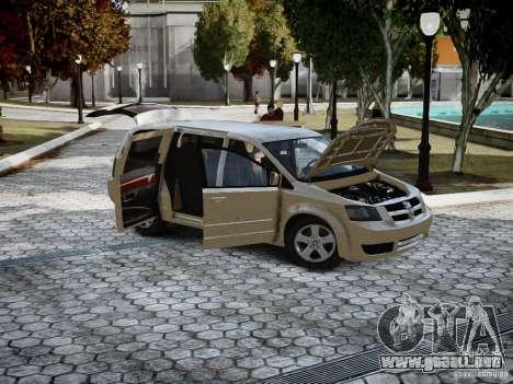 Dodge Grand Caravan SXT 2008 para GTA 4 left