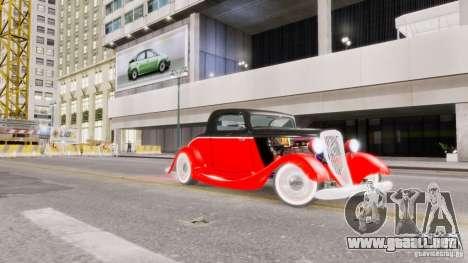Ford Coupe 1934 para GTA 4 vista superior