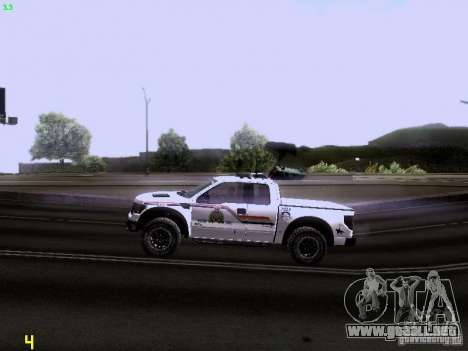 Ford Raptor Royal Canadian Mountain Police para visión interna GTA San Andreas