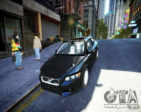 Volvo C30 2009 para GTA 4 vista interior