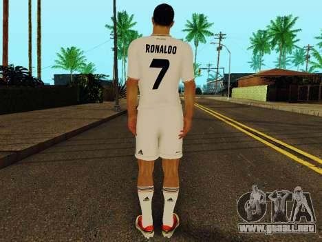 Cristiano Ronaldo v1 para GTA San Andreas sucesivamente de pantalla