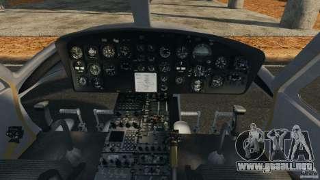 Bell UH-1 Iroquois para GTA 4 vista hacia atrás