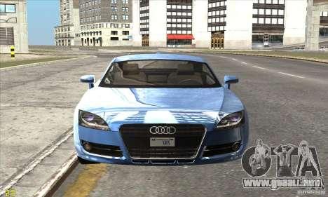Audi TT 2006 para GTA San Andreas vista posterior izquierda