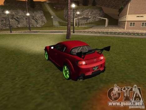 Mazda RX-8 R3 Tuned 2011 para las ruedas de GTA San Andreas